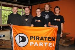 Vorstand Regionalverband Südbrandenburg 2011-2012; von links nach rechts: Nino Röhr, Matthias Ostrowski, Marcel Schoch, Martin Strehler, Christian Schulz